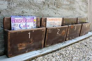 FREE SHIP Set of 4 Office File Magazine Rack Wall Hanging Hand