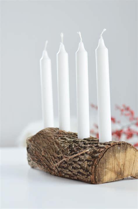 weihnachtsdeko holz basteln do it yourself schlichter adventskranz aus holz bonny und kleid