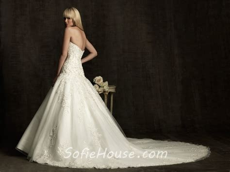 Ball Gown Sweetheart Tulle Lace Applique Wedding Dress