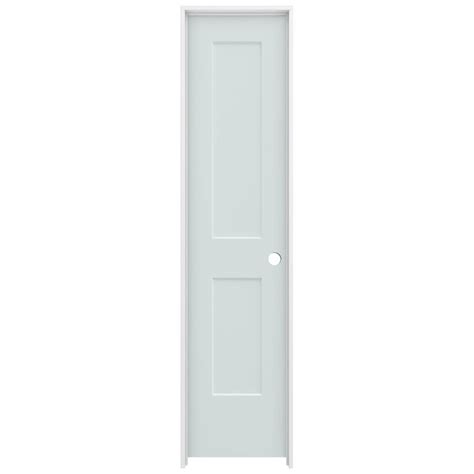 jeld wen 20 in x 80 in smooth 2 panel light gray solid