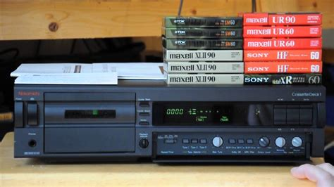 nakamichi cassette decks nakamichi cassette deck one demo
