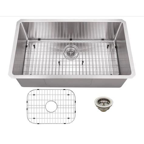 single basin kitchen sink plumbing schon all in one undermount stainless steel 32 in 0