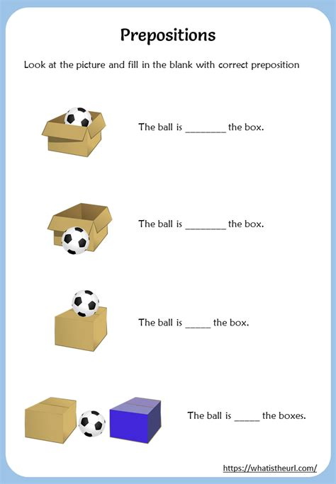 learn prepositions  pictures worksheet  home teacher