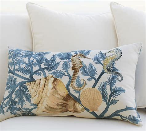 coastal throw pillows painted coastal pillows