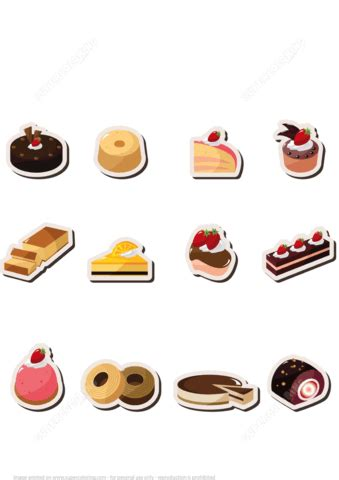 printable desserts stickers  printable papercraft