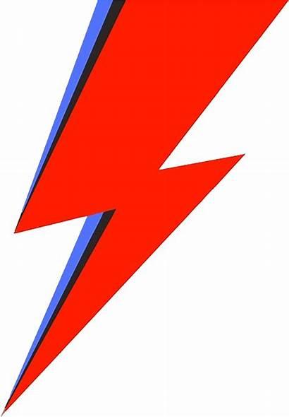 Bowie Lightning Bolt David Stardust Ziggy Transparent
