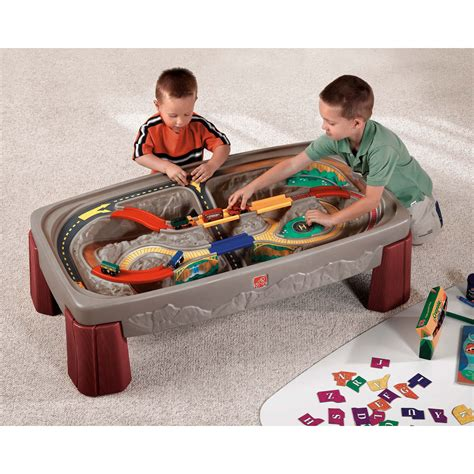 step 2 deluxe canyon road train track table toys