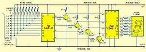 Circuit Diagram  Numeric Water Level Indicator