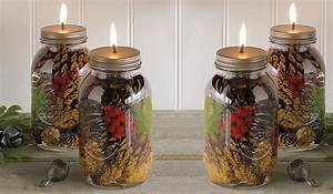 Winter Forest Mason Jar Oil Candles - The Green Head