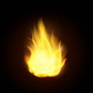 Vector Realistic Fire Flames. Burning Spruts Of Flame ...