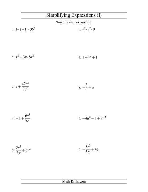 simplifying radical expressions worksheet answers pdf