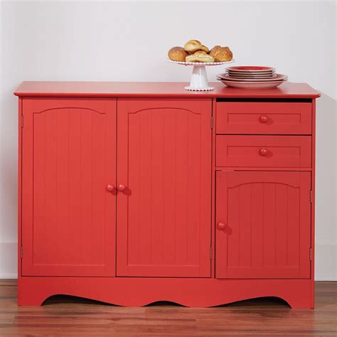 red kitchen cabinets making  bold statement cool ideas