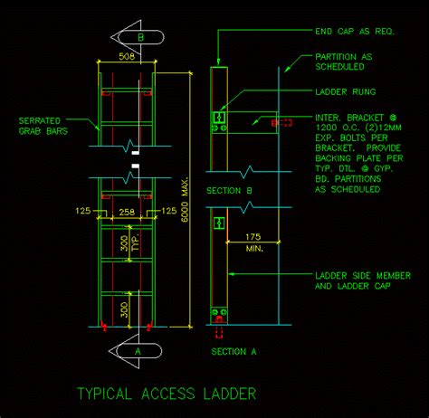 access ladder dwg block  autocad designs cad