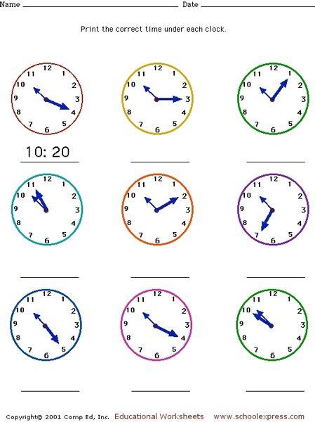 telling time 5 minutes intervals worksheet worksheets for