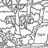 Drawing Rainforest Jungle Coloring Getdrawings Pages Drawings Paintingvalley sketch template