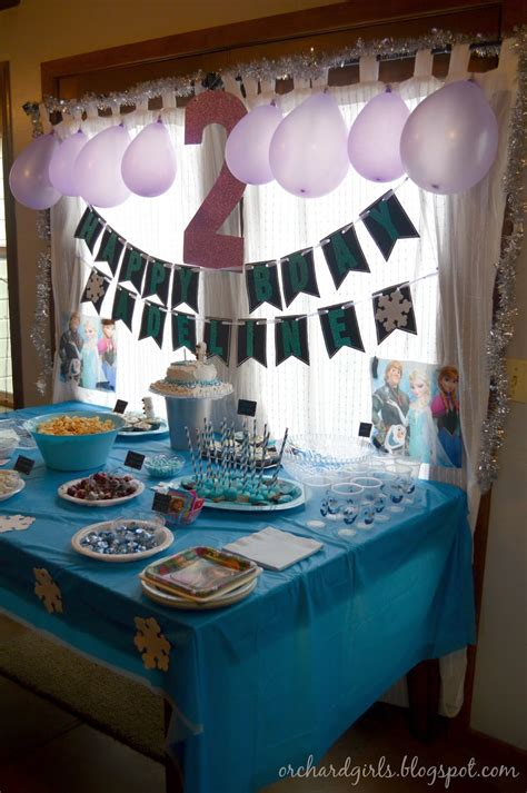 orchard girls  frozen birthday party invitations
