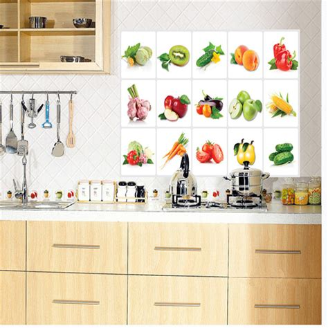 kitchen backdrop tiles waterproof high temperature fruits and vegetables 2197