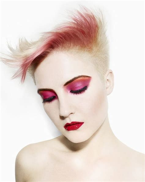 totally 80s new wave colored hair hair