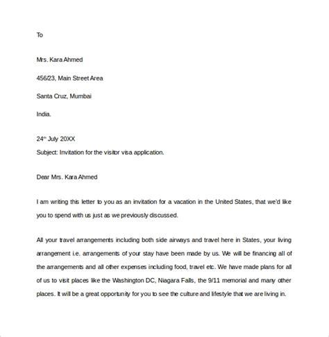 invitation letter  visa application  usa