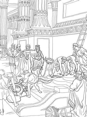 king hezekiah destroy brazen serpent coloring page