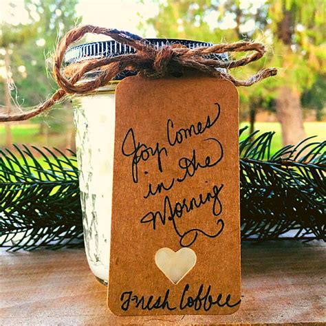 """There's nothing quite like the smell of fresh coffee in the morning, and with these decadent candles you can indulge in those aromas all day long. """"Joy Comes in the Morning"""" Fresh Coffee Coconut Wax Candle ..."""