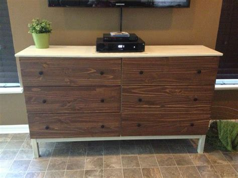 Tarva 6 Drawer Dresser Hack by Vintage Look Tarva Tv Console Ikea Hackers Ikea Hackers