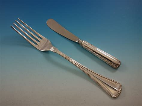 italian sterling flatware silver service italy milano pieces dinner