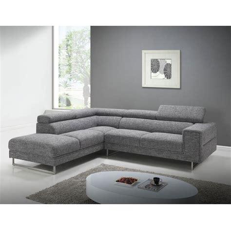 canapé d angle gris tissu canapé d 39 angle tissu gris narbonne angle à gauche
