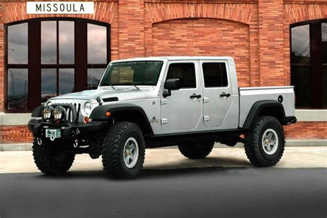 new 4 door jeep truck report jeep pickup in the works
