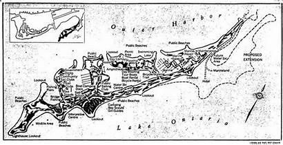 Toronto Globe March Spit Leslie Map 1976