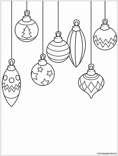 Christmas Ornaments Pages Coloring Boules Coloriage Dessin