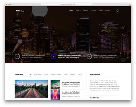 News Website Templates 20 Free News Website Templates That Follows Leading News
