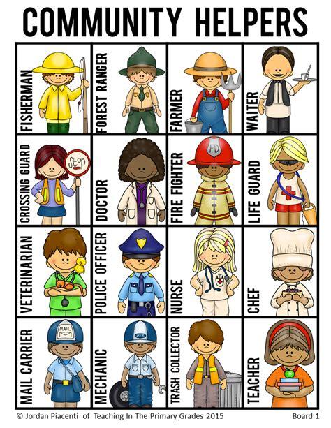 community helpers and occupations bingo game community