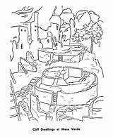 Mesa Verde Coloring Pages Park Cliff Places Printables National Pueblo Dwellings Historic Patriotic Sheets Printable Indians Usa Monuments Raisingourkids Parks sketch template