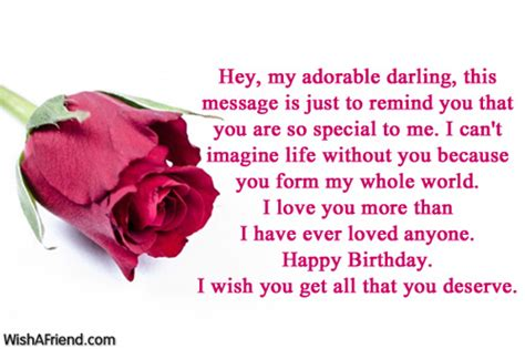 hey my adorable this message birthday wish for boyfriend