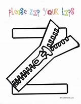 Zip Coloring Lips Anchor Letter Charts Please Preschool Pages Crafts Zipper Classroom Letters Activities Printable Craft Freebies Teachwithme Pattern Alphabet sketch template
