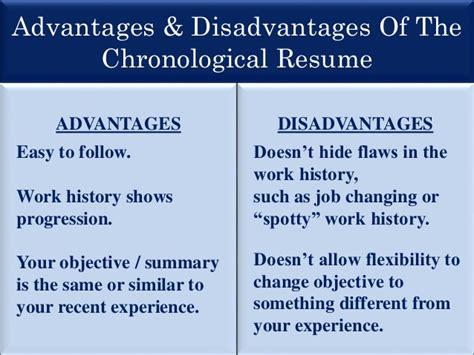 Chronological Resume Disadvantages by Resume Presentation