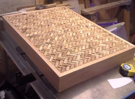 man builds gorgeous diy coffee table  wine corks
