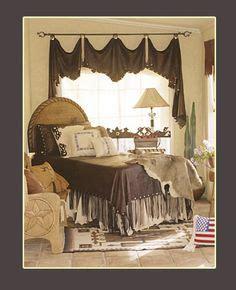 Cowhide Valance - valances and curtains on valances window