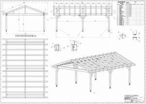 60 baupl ne bauplan satteldach carport terrassendach for Bauplan terrassenüberdachung pdf
