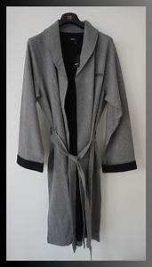 Hugo Boss Bademantel : hugo boss bademantel morgenmantel gr s grau schwarz uvp 129euro neu ebay ~ A.2002-acura-tl-radio.info Haus und Dekorationen