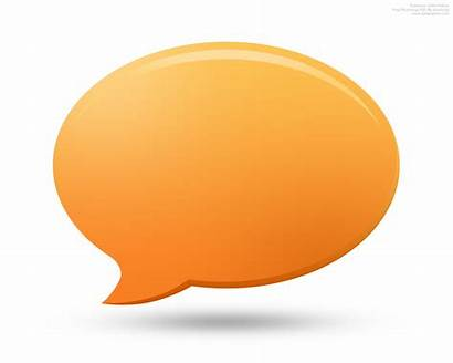 Icon Comment Psd Icons Chat Discussion Orange