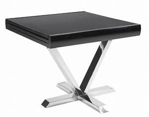 Table Carre Extensible : table carr e extensible noir selena 90 180 cm ~ Teatrodelosmanantiales.com Idées de Décoration
