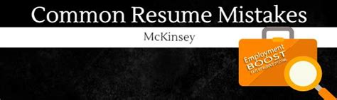 common resume mistakes mckinsey consulting edition