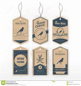 vintage clothing tags stock vector illustration of paper With apparel labels and tags