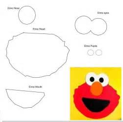 Sesame Street Elmo Face Template
