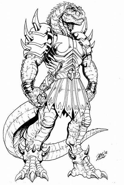 Coloring Deviantart Rex Pages Dinosaucers Godzilla Ghengis