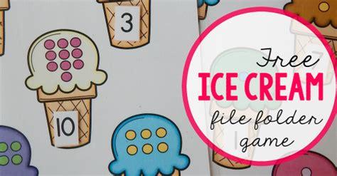 free file folder for preschoolers count 774 | ice cream file folder game facebook link image