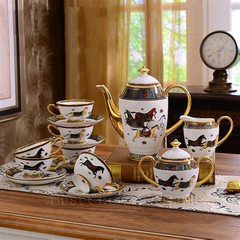 china dinnerware sets dinner porcelain bone horses god wedding outline coffee gift gold dhgate