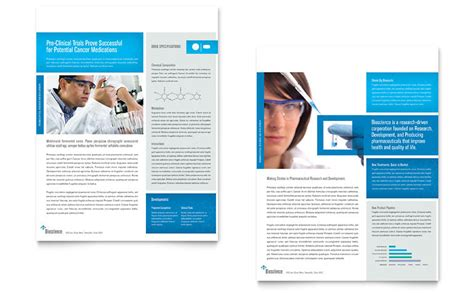 science chemistry datasheet template word publisher